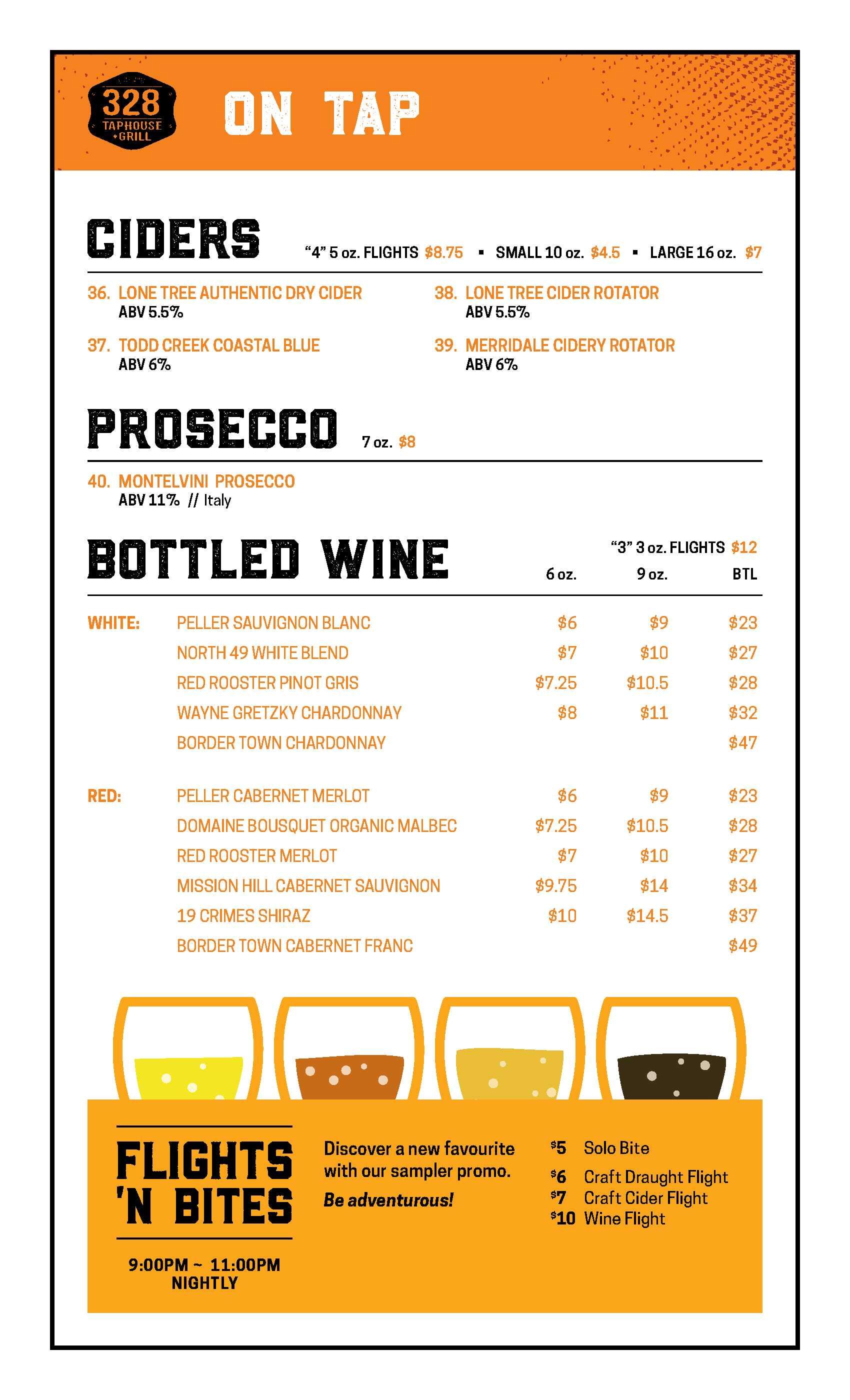 Cider & Wine Menu