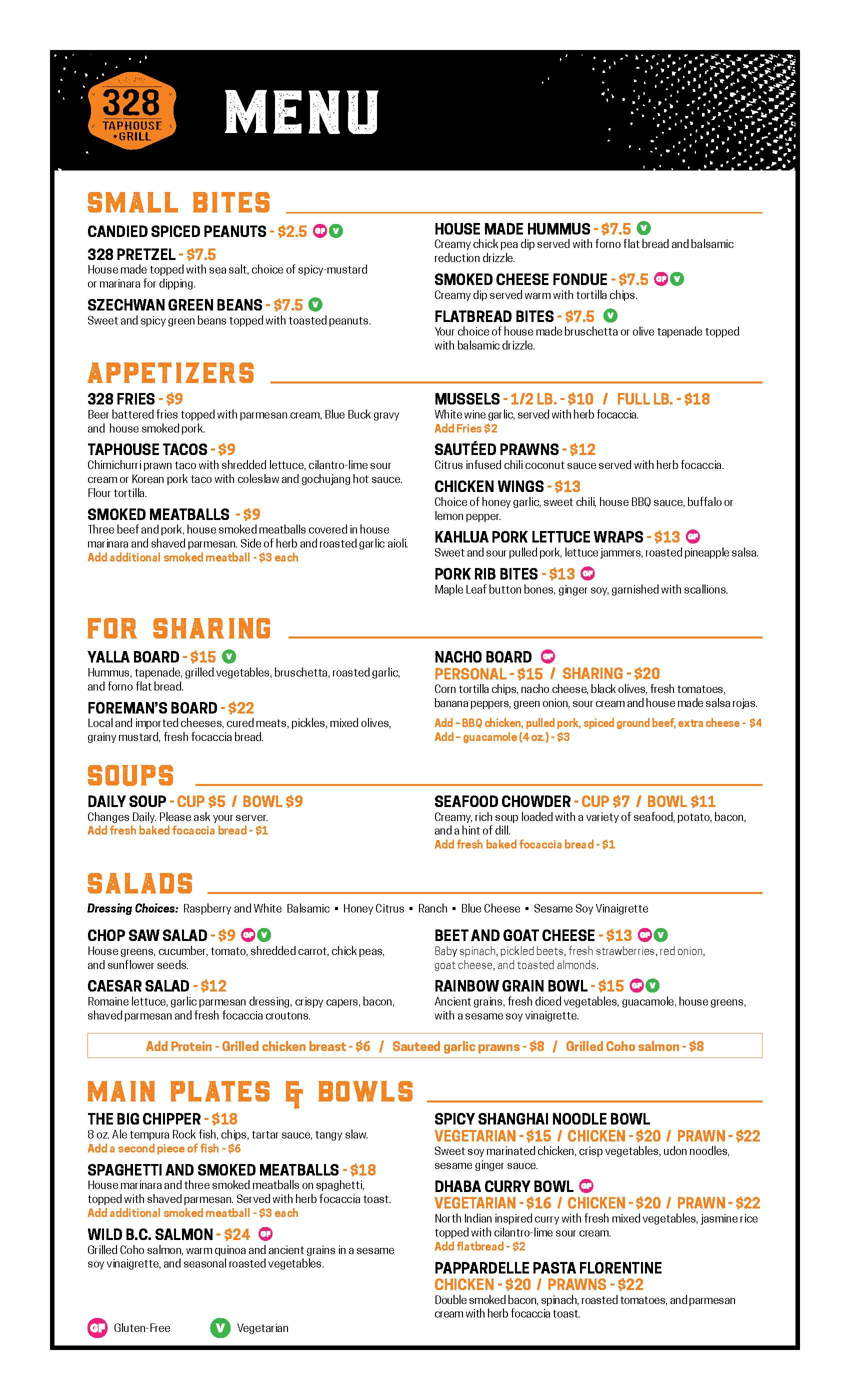 328Taphouse_Food Menu