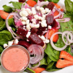 Food Menu - Salads - Beet and Goat Cheese Spinach Salad